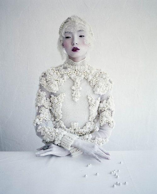 """pherie: """"Xiao Wen Ju in Givenchy Haute Couture II Photo by Ricardo """""""