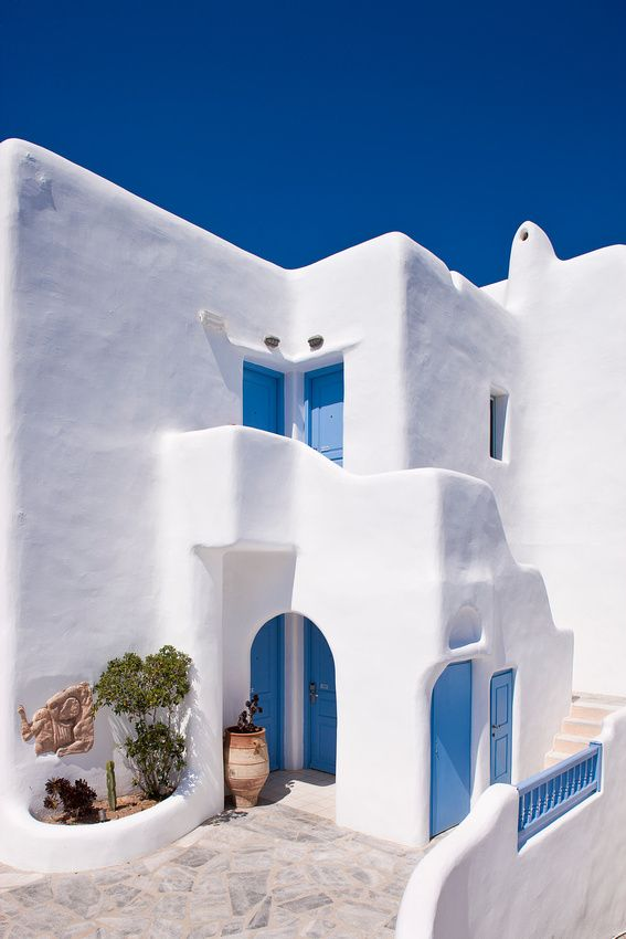Fachada griega - Cycladic House, Mykonos, Greece