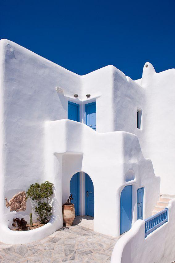 Fachada griega - Cycladic House, Mykonos, Greece