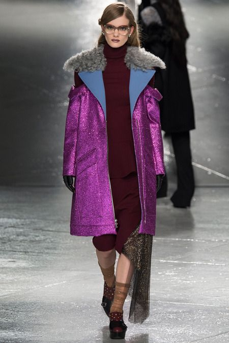 Rodarte 2014 highly glittered coat (also in a sort of orange bronze and a teal)