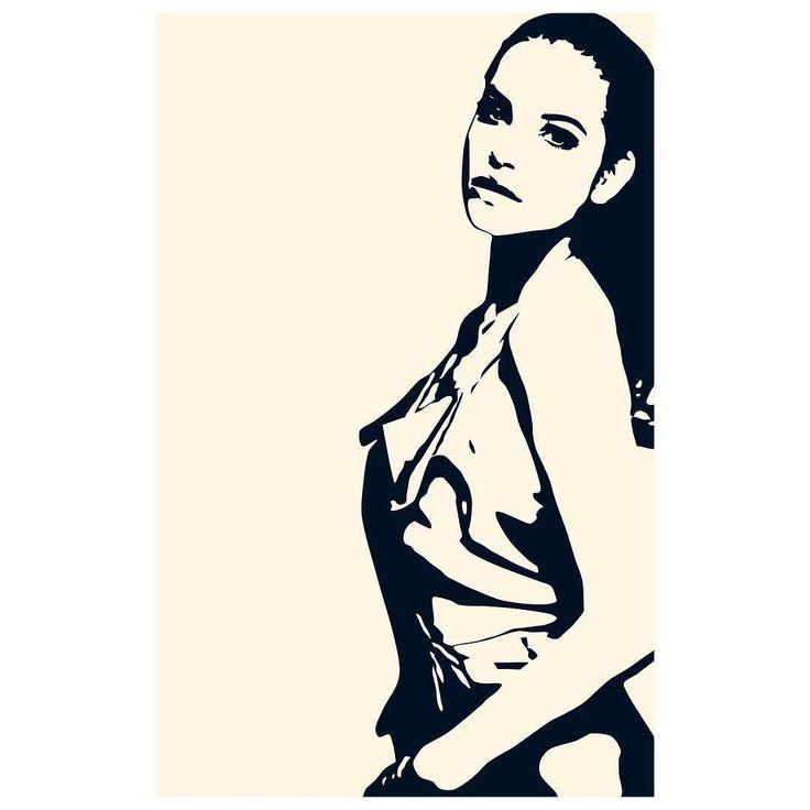 Barbara Palvin Film Noir Illustration @realbarbarapalvin # ...