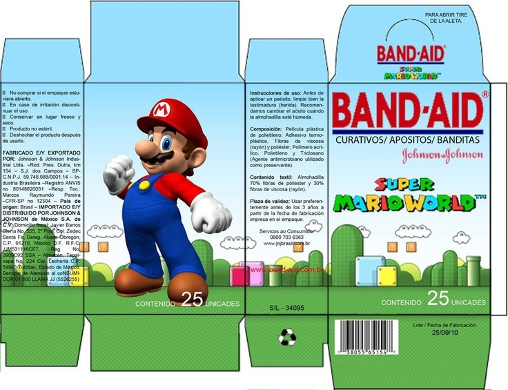Super Mario Band Aid