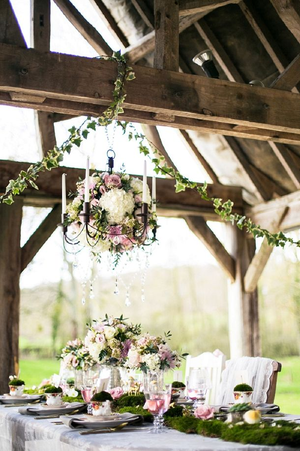 Floral chandelier // Louise Beukes for b.loved