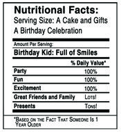 N Info Bday Jpg 175 192 Birthday Labels Nutrition Facts Label Diy Water Bottle Labels