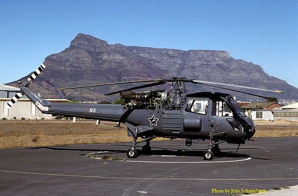 Westland Wasp No93 at South African Air force Base Ysterplaat.