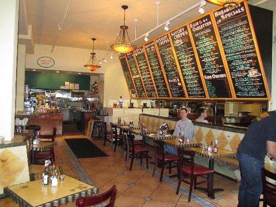 Honey Honey in San Francisco, yummy crepes and breakfast stuff near Union Square and stuff.