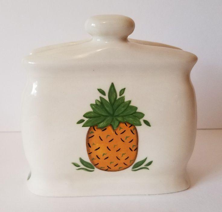 Pineapple Sponge Holder Decor, Hospitality Gift, Housewarming Present, Primitive Decor, Kitchen Decor, Napkin Holder, Welcoming Gift, by adorablecc on Etsy https://www.etsy.com/ca/listing/490454161/pineapple-sponge-holder-decor