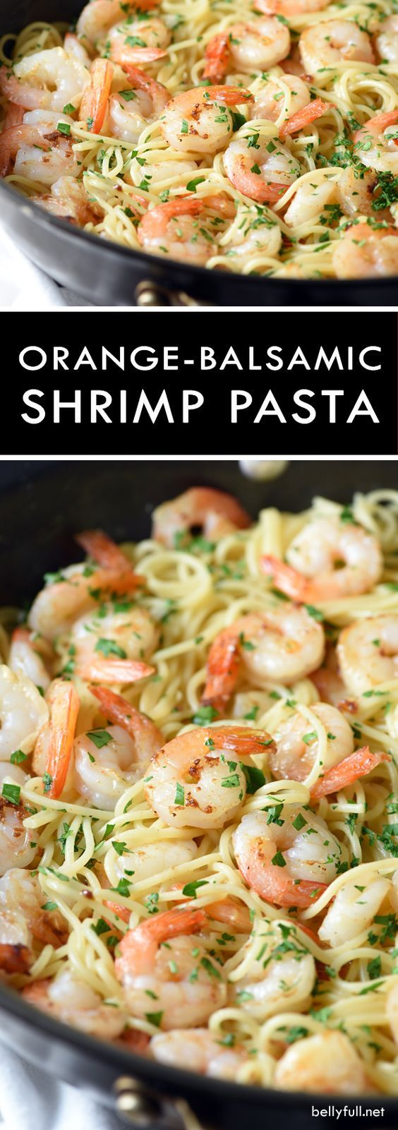 Orange-Balsamic Shrimp Pasta - sautéed shrimp are coated in a spicy and tangy citrus sauce that is out of this world!