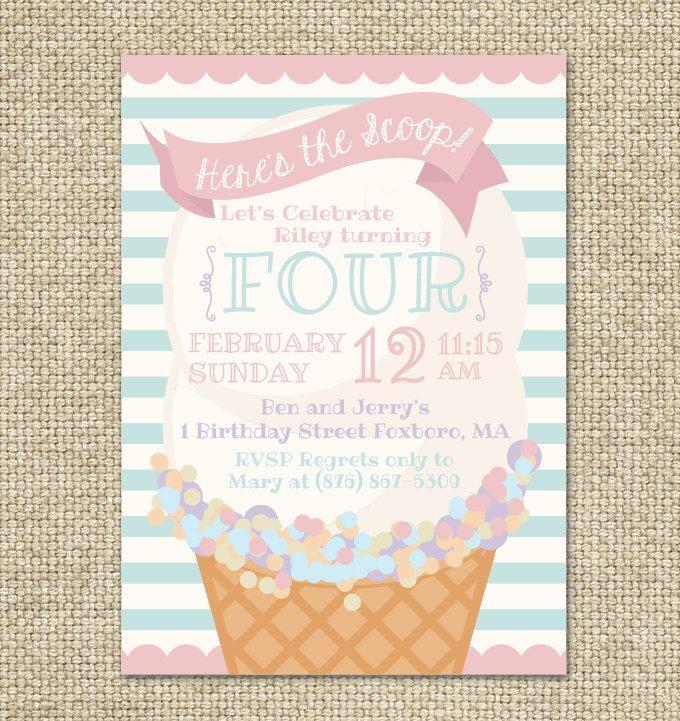 best 20+ ice cream invitation ideas on pinterest | ice cream, Party invitations