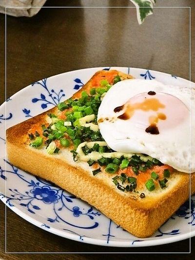 小ネギたっぷり辛子明太子バタートースト by みどふぁどベシさん ...