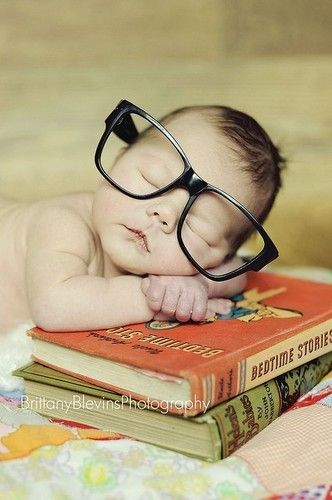 My nerd baby. Those would be Harry Potter books of course