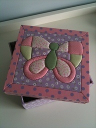 butterfly, técnica del patchwork sin agujas