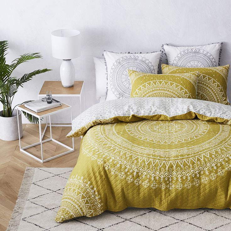 Featured as our hero piece this Spring, the Mandala quilted bedlinen will inspire you to bring culture and the outer surroundings into your home - our mandala patterns host florals, motifs and even elephants. Mesmerising aesthetics as well as beautifully functional, the Mandala is fully reversible and quilted, meaning it can be transitional throughout the seasons.
