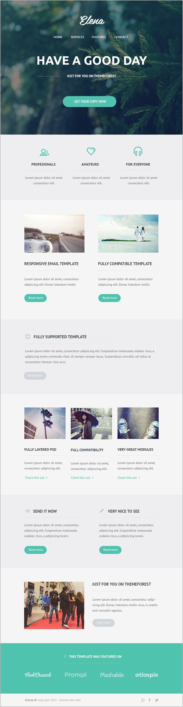 Free Email Newsletter Templates PSD #design #template