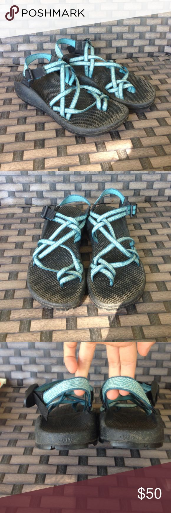 Blue Chaco sandals Good used condition women's 9 Chacos Shoes Sandals