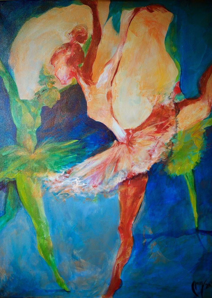 "akryl painting, ""Dans"", 80x60 cm, 2015,          EM Brækstad"