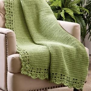 Serene Meadow Afghan- awesome crochet border!!Crochet Ideas, Afghans Blankets, Crochet Afghans, Meadow Pattern, Serenity Meadow, Crochet Border, Crochet Throw, Afghans Pattern, Crochet Knits