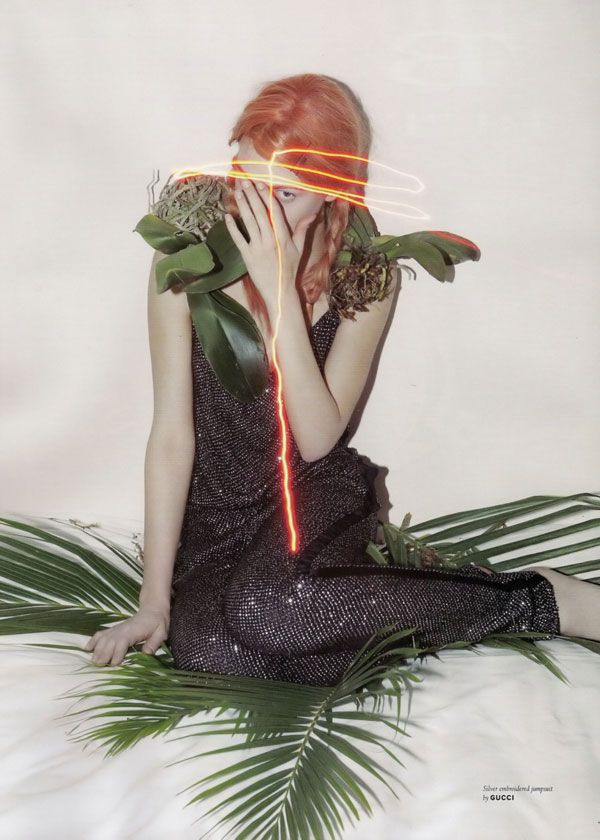 Kinga Rajzak by Viviane Sassen for Pop Fall/Winter 2009