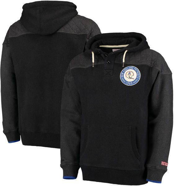 New England Patriots Mitchell & Ness Play By Play Pullover Hoodie - Black - $93.99