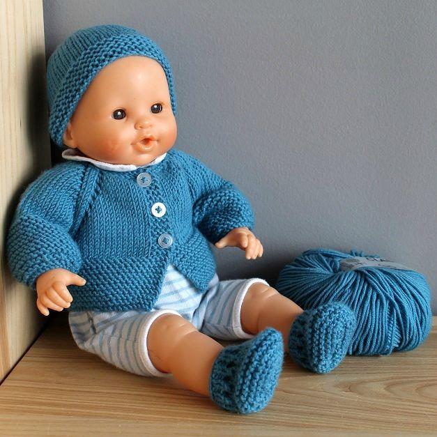 patron tricot poupon 36 cm