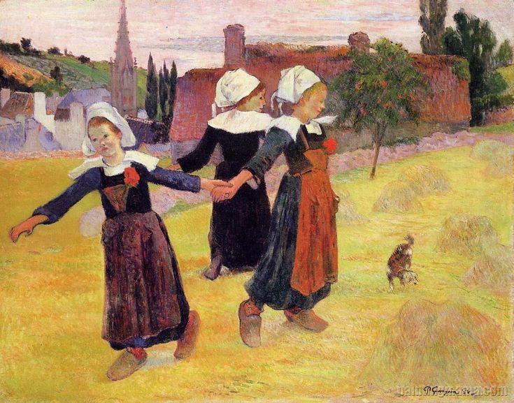 Breton Girls Dancing, Pont-Aven  This painting always makes me smile! Go Gauguin!