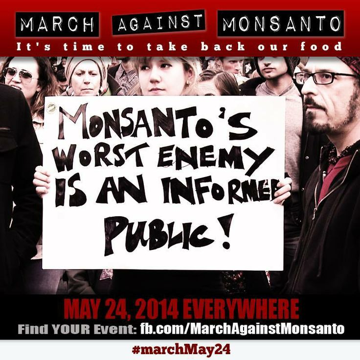 On Saturday, May 24, millions of people around the world will March Against Monsanto. This year, we are asking activists who march to spread the word about the damage Monsanto and the rest of the pesticide-makers are doing to the honeybee and monarch populations. Find a march near you: http://orgcns.org/1mVdI5x