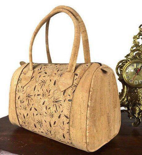 Cork Leather Handbag,FREE SHIPPING, Shoulder Bag,Handmade Bag, Cork Ideas,Unique gift,Kork,Liège