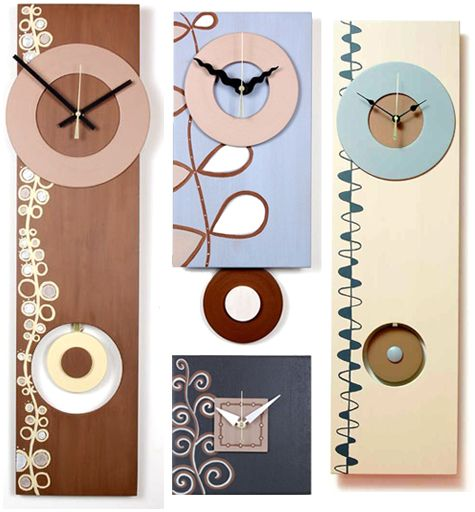 Tick, Tock, Eco Clocks: Recycled Wood Wall Clocks by Infinity Arts