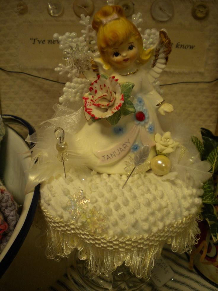 January Angel pincushion