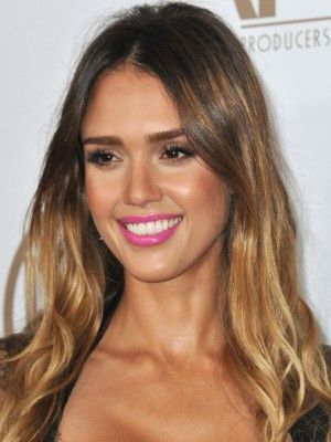 Bronzed perfection! Love her lip color.