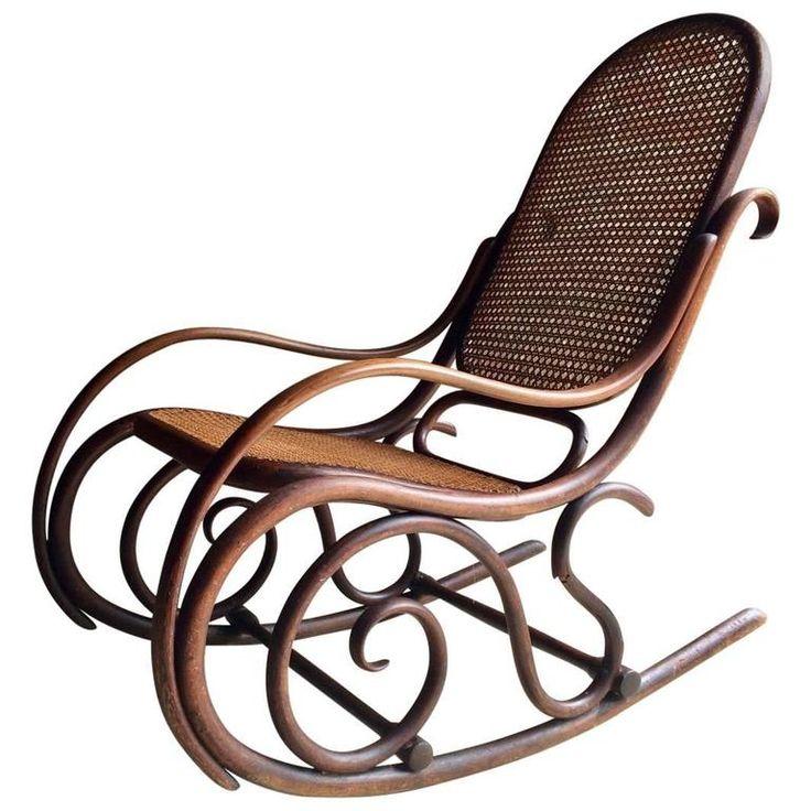 Thonet Chair Bentwood Rocker Cane Victorian, 19th Century 1stdibs.com