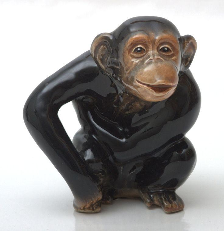 kitchen pot holders outdoor accessories vintage sylvac chimpanzee no.98   ebay monkey porcelain ...
