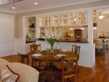 this is EXACTLY how i want the cabinets in between the dining and kitchen to look... @Kelly Canady