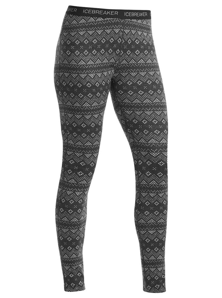 After a long day of skiing in frigid flurries, you'll be glad you wore Icebreaker Vertex Leggings as your bottom base-layer. With its 100% merino wool jersey fabric, these leggings are guaranteed to keep you warm. Available at CAN-SKI.