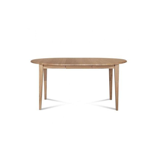 Table Ronde Extensible Bois A Rallonges 105 Cm Pieds Fuseau Victoria Table Ronde Extensible Table Ronde Bois Mobilier De Salon