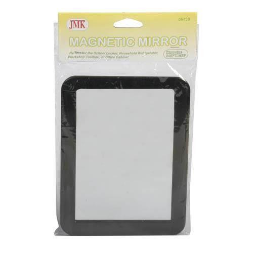 JMK IIT 06730 5 1/4 x 6 7/8 Inch Magnetic Locker Mirror - Real Glass