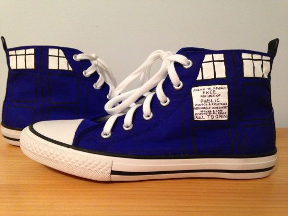 Hand painted Converse high top shoes by ArtisticFantasy on Etsy, $100.00
