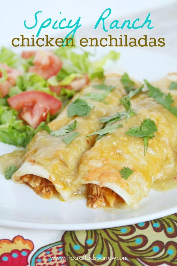Spicy Ranch Chicken Enchiladas