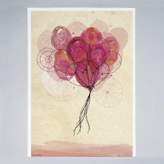 Sweet William - Carnival Balloons - Print