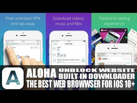The Best Alternative Web Browser For iPhone / iPad iOS 10.0.2 Built In V...