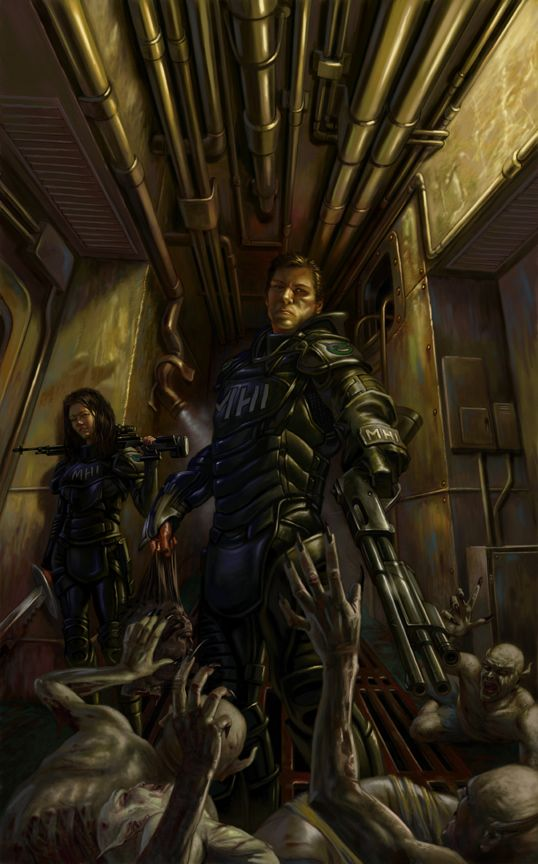This is the cover art from the first book of one of my favorite authors, Larry Correia. The book is Monster Hunter: International. GREAT book, for those that love the sci-fi/fantasy/urban fantasy genre!