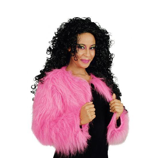 Roze harig bolero jasje. Carnavalskleding 2016 #carnaval