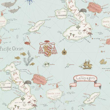 Sanderson - Galapagos Wallpaper - 213364