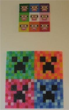 Minecraft Perler Series Sheep and Creeper perler beads by ~miss-j-bean on deviantART