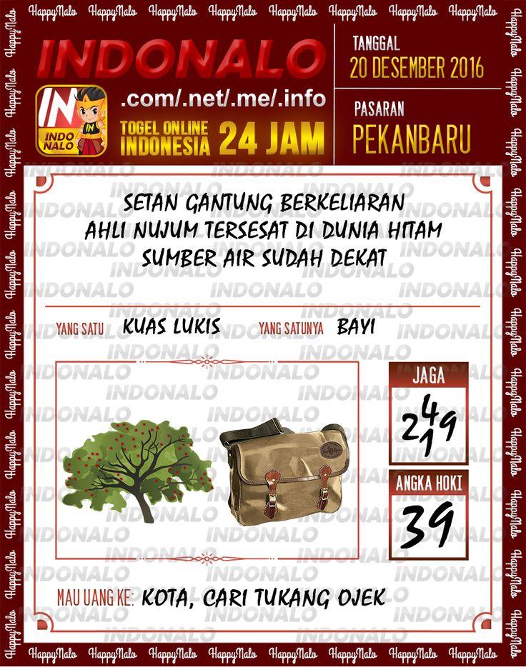Undian Lotre 4D Togel Wap Online Live Draw 4D Indonalo Pekanbaru 20 Desember 2016
