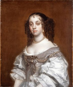 1655ca. Queen consort to Charles II of England - Catherine of Braganza by Peter Lely studio
