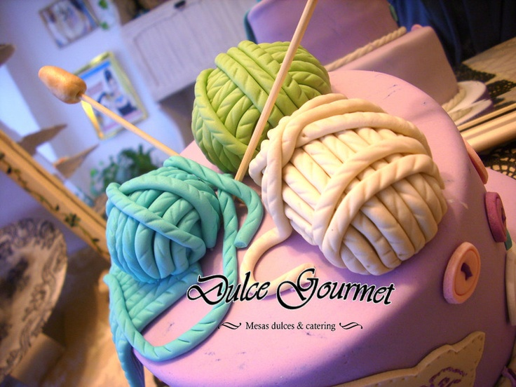 Knitting Cake Decorations : Best ideas about knitting theme cakes and other edible