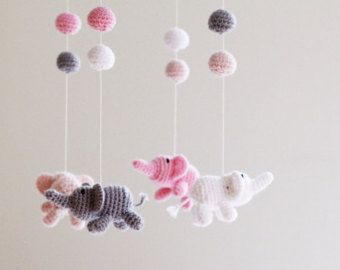 Sheep Mobile Baby Crib Mobile Nursery Decor by LalaKa on Etsy