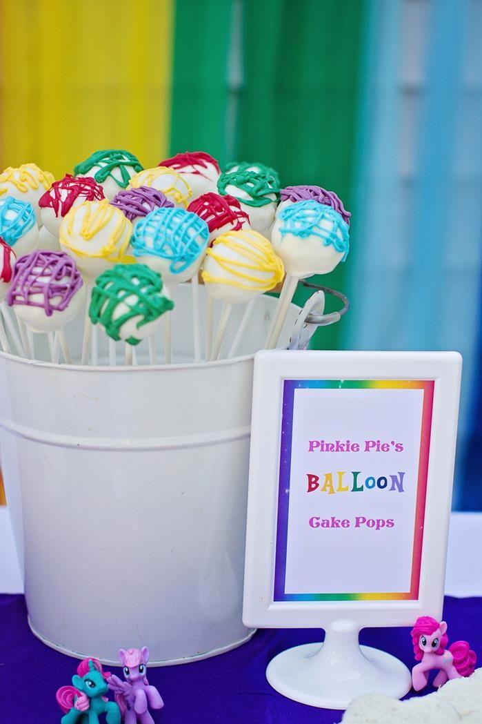 My Little Pony Rainbow Party Full of Cute Ideas via Kara's Party Ideas   KarasPartyIdeas.com #4thBirthday #Party #Ideas #Supplies (16)