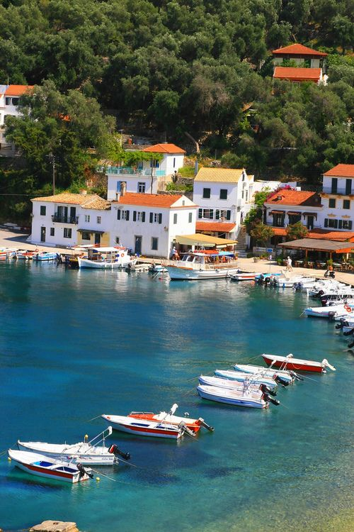 Port and sea, Paxos island | Greece (by Marie Therese Magnan)